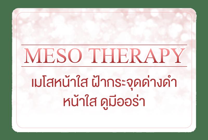 เมโสหน้าใส, เมโสฝ้ากระ – Meso Therapy
