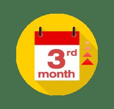 สามเดือนเป็นต้นไป
