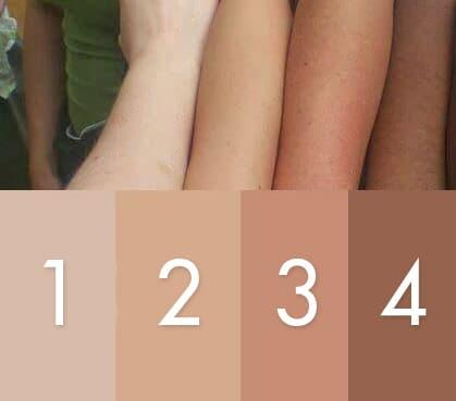 เทียบสีผิว เพื่อฉีดวิตามินผิวขาว