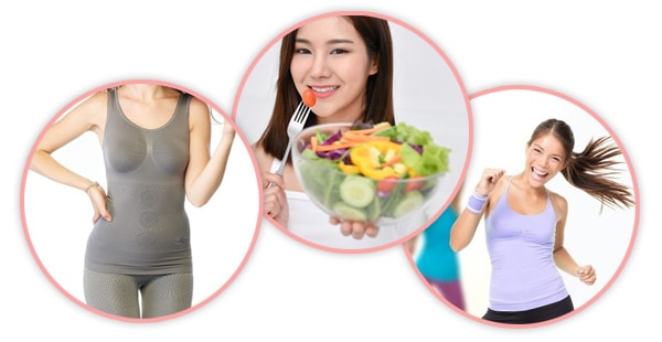 ออกกำลังกาย คุมอาหาร ใส่ชุดกระชับ