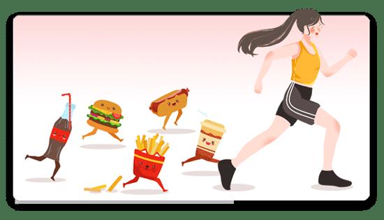 หลักเลี่ยงอาหาร fast food